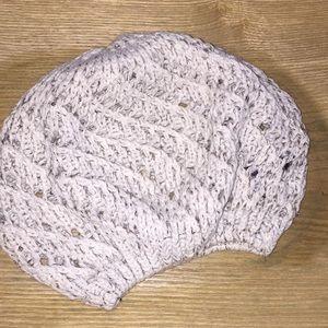 Set of 2 bundle beret style knit hats